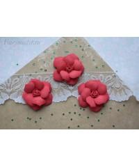 Розы из фоамирана крупные красные