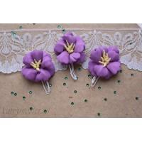 Букетик цветов из фоамирана фиалка