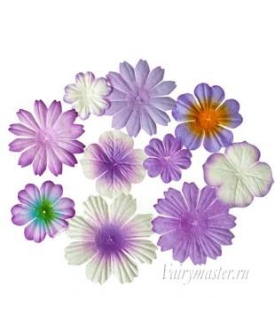 Набор цветочков сиреневого оттенка