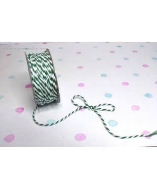 Шнур джутовый  бело-зеленый