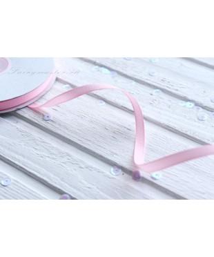 Лента репсовая светло-розовая 0,6 см