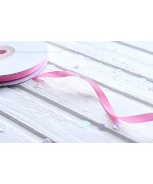 Лента репсовая розовая 0,6 см
