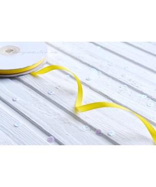 Лента репсовая желтая 0,6 см