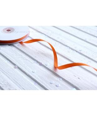 Лента репсовая оранжевая 0,6 см