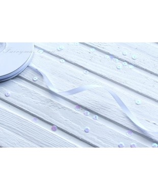 Лента репсовая белая 0,6 см