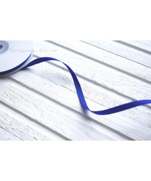 Лента репсовая синяя 0,6 см