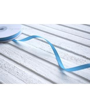 Лента репсовая голубая 0,6 см
