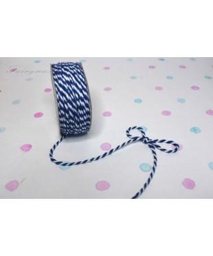 Шнур джутовый  бело-синий