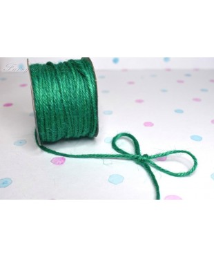 Шнур джутовый зеленый