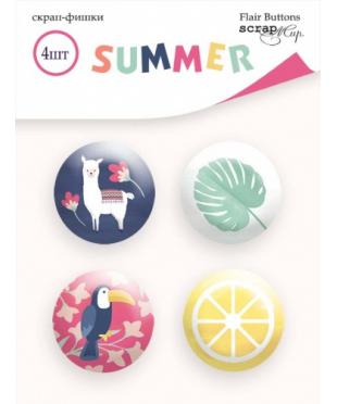 Набор скрап-фишек Summer