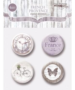 Набор скрап-фишек  French Provence