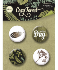 "Набор скрап-фишек  ""Cozy Forest"""