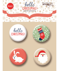 "Набор скрап-фишек  ""Hello Christmas"""