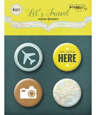 Набор скрап-фишек  Let's Travel