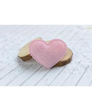 Декоративное светло-розовое сердечко