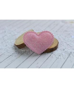 Декоративное розовое  сердечко