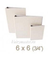 Обложка из картона белая 15х15 см.